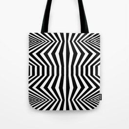 Angled Distortion Tote Bag