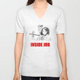 JFK Assassination: Inside Job! Unisex V-Neck