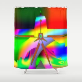 Greetings from Mars ... Shower Curtain