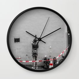 Meticulous Street Artist Wall Clock