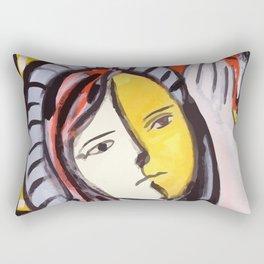 Portrait of a cubist girl Rectangular Pillow
