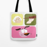 courage Tote Bags featuring Courage by Raquel Segal