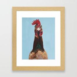 Hello Rooster Framed Art Print