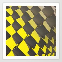 Yellow Chess Art Print
