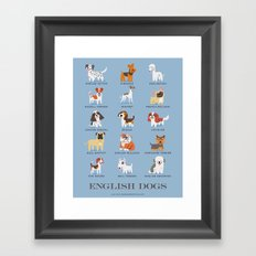 ENGLISH DOGS Framed Art Print