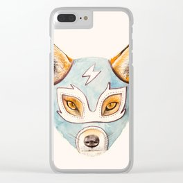 Andrew, the Fox Wrestler Clear iPhone Case