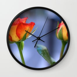 """Love planted a rose and the world turned sweet"" Wall Clock"