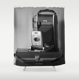 Polaroid Land Camera Shower Curtain