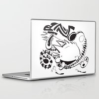 hobbes Laptop & iPad Skins featuring Calvin and Hobbes line-work caricature design by Eric Goodwin