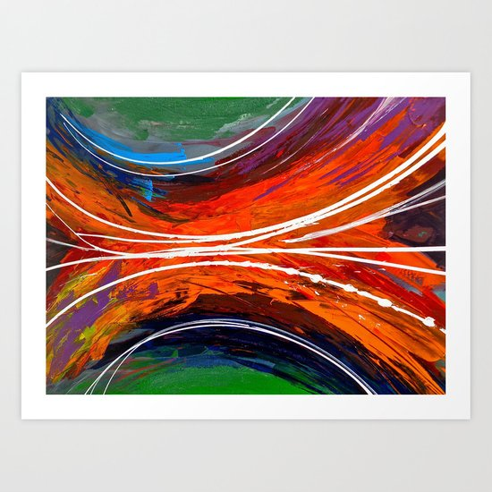 Stream - colorful abstract painting Art Print