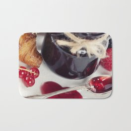 Croissants with jam (Valentine concept) Bath Mat