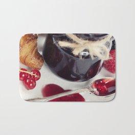Croissants with jam (Valentine concept) Bath Mat
