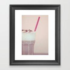 Creamy Flavor Framed Art Print