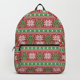 Christmas weed sweater Backpack