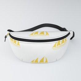 Yellow Sailboat Pattern Fanny Pack