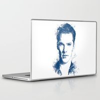 cumberbatch Laptop & iPad Skins featuring Benedict Cumberbatch by Chadlonius
