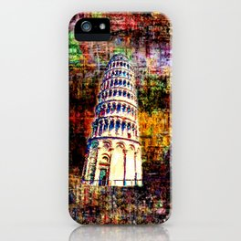 Semi-Abstract Leaning Tower of Pisa iPhone Case