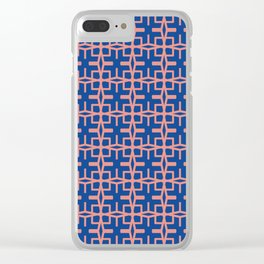 African Tiles / The F Pattern 1 Clear iPhone Case