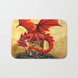 Red Dragon's Treasure Chest Bath Mat