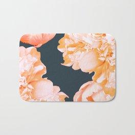 Peach Colored Flowers Dark Background #decor #society6 #buyart Bath Mat