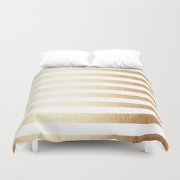 Simply Striped Golden Copper Sun Duvet Cover