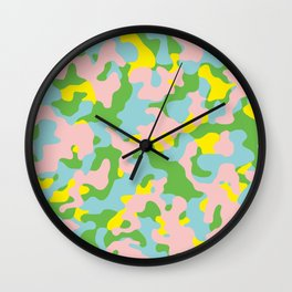 New Colors Camouflage Wall Clock