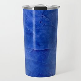 Dark Blue Ombre Burnished Stucco - Faux Finishes - Venetian Plaster - Corbin Henry Travel Mug
