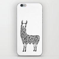 llama iPhone & iPod Skins featuring Llama by Lizzie Scott