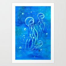 Jelly Blues Art Print