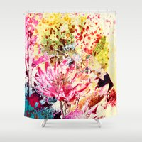 aelwen Shower Curtains featuring waterlily by clemm