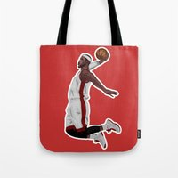 lebron Tote Bags featuring Lebron James by siddick49