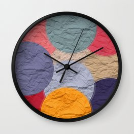rounds of paper Wall Clock