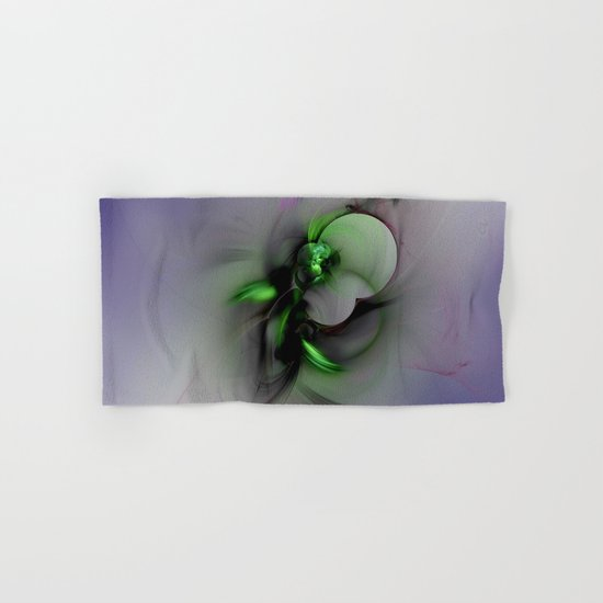 Abstract in Black and Green  Hand & Bath Towel
