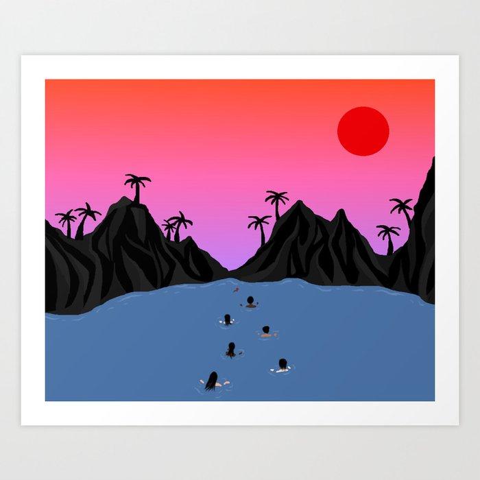 Swim Together Art Print