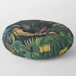 Rêve exotique 'The Dream' by Henri Rousseau Floor Pillow