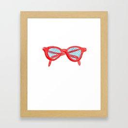 Red Sunglasses Framed Art Print