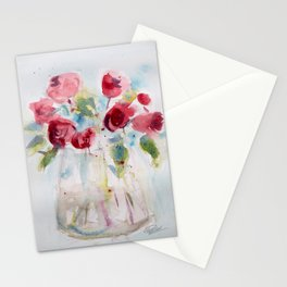 Roses (watercolor and ink) Stationery Cards