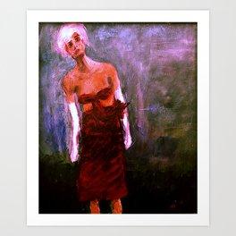 Floating Dawn - woman portrait 16 Art Print