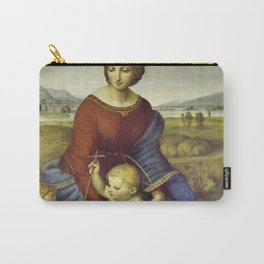 Madonna of the Meadows by Raphael Carry-All Pouch