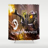 guardians of the galaxy Shower Curtains featuring Halo5 Guardians by store2u