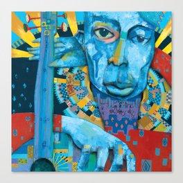 Blue Music Canvas Print