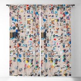 Beach Vibes Only | Aerial Print | Beach Print | Waves Art Print | Modern Wall Art | Sea Print Blackout Curtain