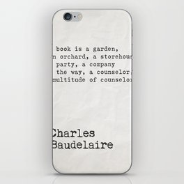 Charles Baudelaire quote about books iPhone Skin