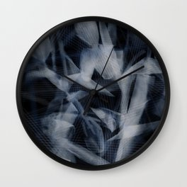Transparent tulips Wall Clock