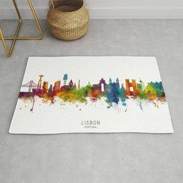 Lisbon Portugal Skyline Rug