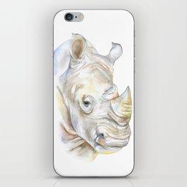 Rhino Watercolor iPhone Skin