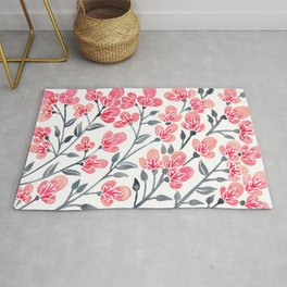 Cherry Blossoms – Pink & Black Palette Rug