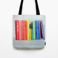 Rainbow Vintage Books Tote Bag