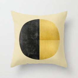 Black and Gold Circle 03 Throw Pillow