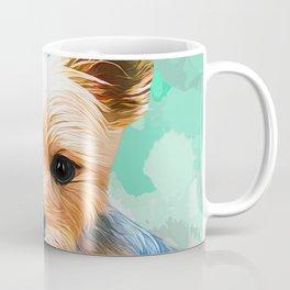 Yorkshire terrier pop art portrait Coffee Mug